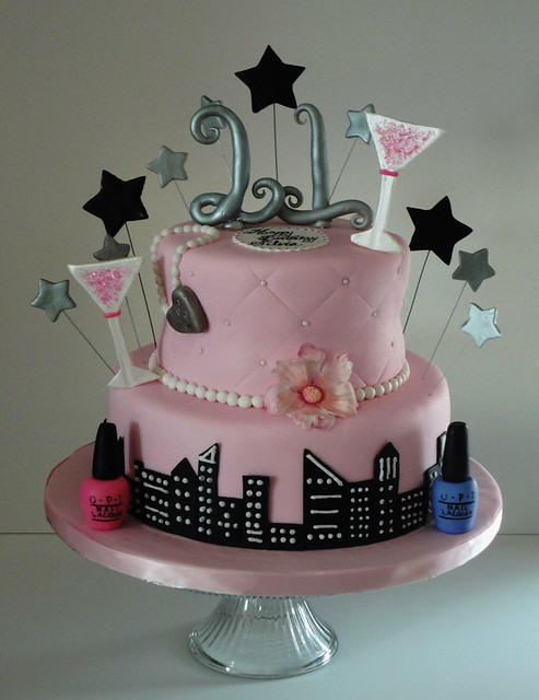 Happy 21st birthday cake this is a combination of a for 21st cake decoration ideas