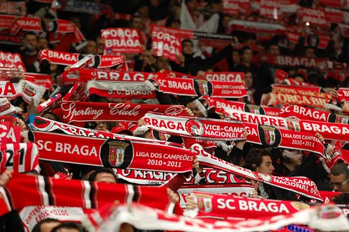 Adeptos do Braga no Estádio Axa