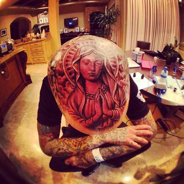 Travis barker full head tattoo flickr photo sharing for Full head tattoo