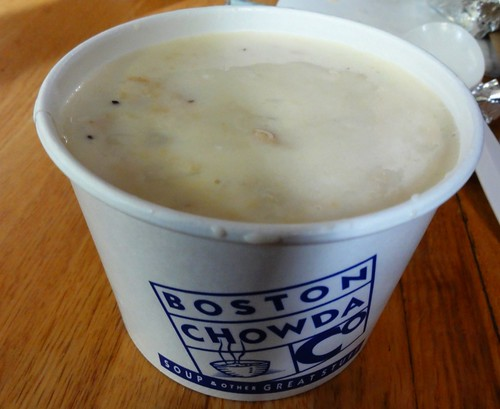 Clam Chowder from Boston Chowda in Quincy Market