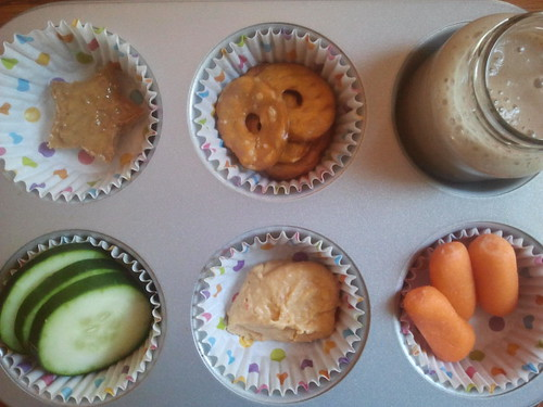 Muffin Tin Monday: Hummus and Veggies