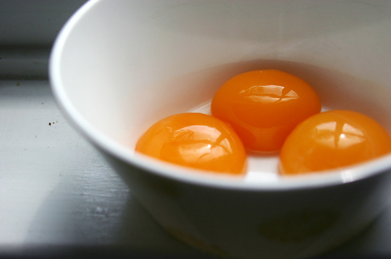 orange yolks