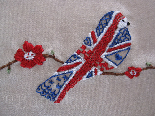 Great British Bird Embroidery Pattern