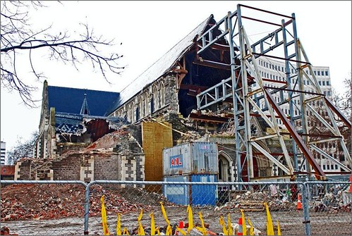 salvaging the ChristChurch Cathedral (c2012 GB Arrington; used with permission)