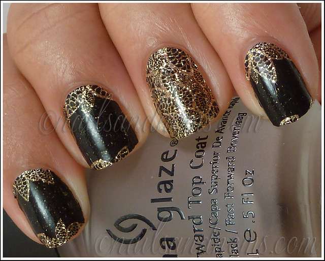 OPI Pure Lacquer Nail Apps - Gold Lace 7