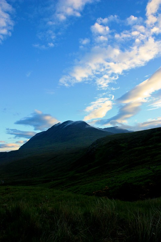 Early morning sky over An Teallach