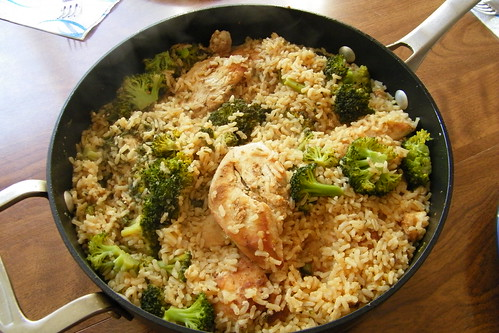 Spiced Chicken with Rice & Broccoli
