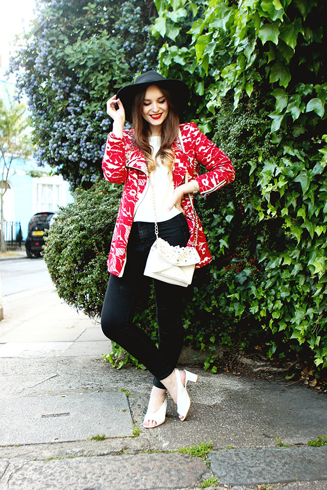 Free People Seventies Red White Outfit Post