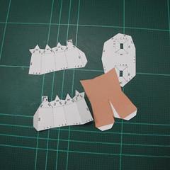 วิธีทำโมเดลกระดาษคุกกี้รสคุกกี้แอนด์ครีม  (Cookie Run Cream Cookie Papercraft Model) 022