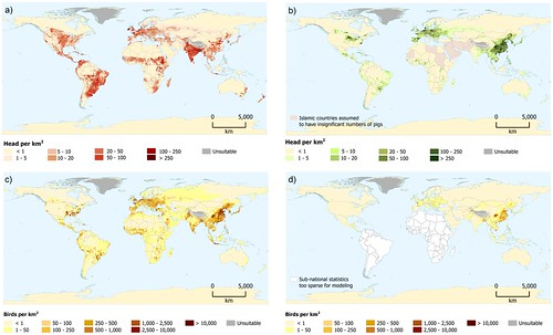 New maps of distributions of global livestock