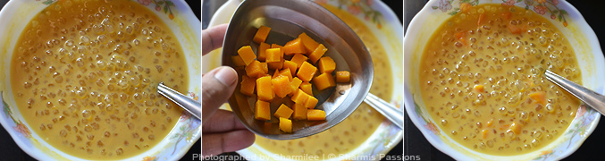 How to make mango sago - Step5