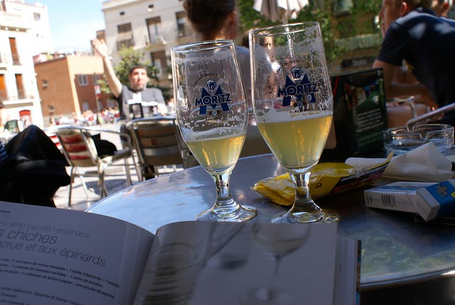 > Claras (demi citron) en terrasse du Nina à Barcelone.