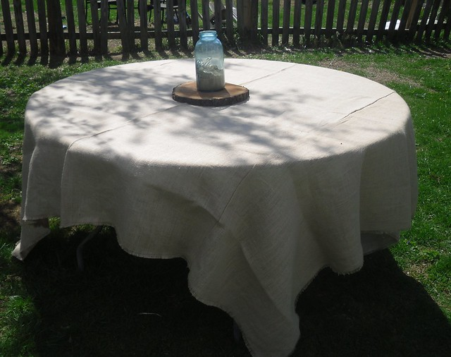 Burlap table cloth Burlap 90x90 cloth