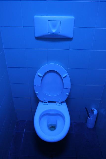 uv light in station bathroom flickr photo