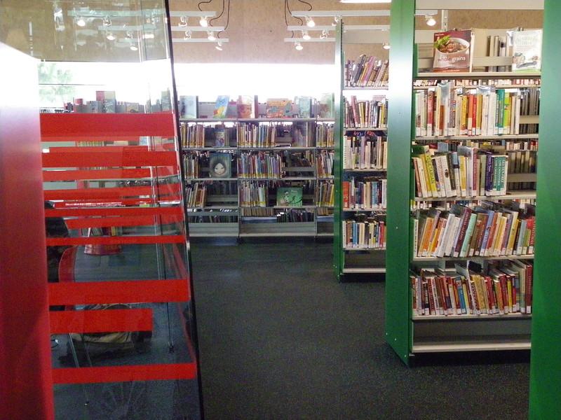 Glass study space - Palo Verde Library, Phoenix Public Library