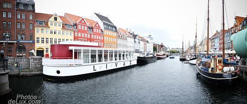 Nyhavn Copenhagen - Fuji X100 Pano