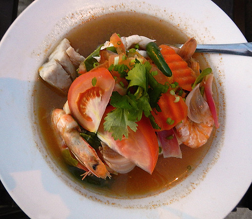 tom yam soup at Daddy's cafe