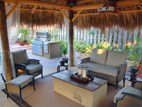 patio with outdoor furniture and bbq