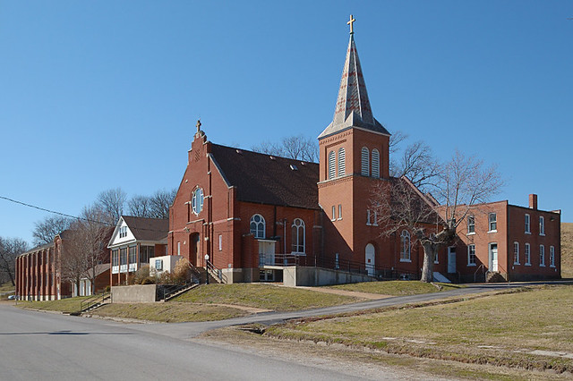Church of the Risen Savior (Saint Joseph), in Rhineland, Missouri, USA - exterior