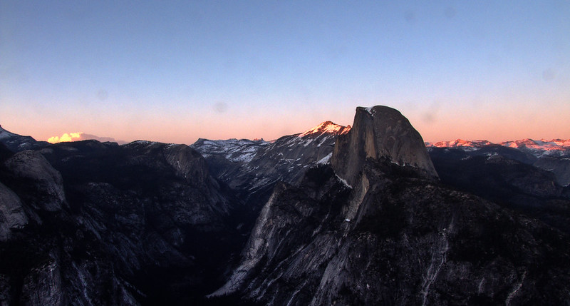 Sunset around Half Dome, Glacier Point, Yosemite National Park