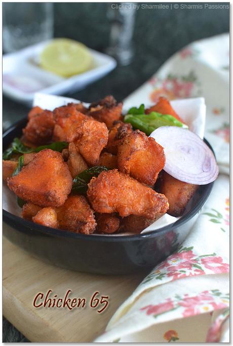 Chicken 65 Recipe Restaurant Style Chicken 65 Sharmis Passions