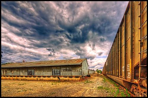 railroad clouds nc warehouse statesville nikond3100