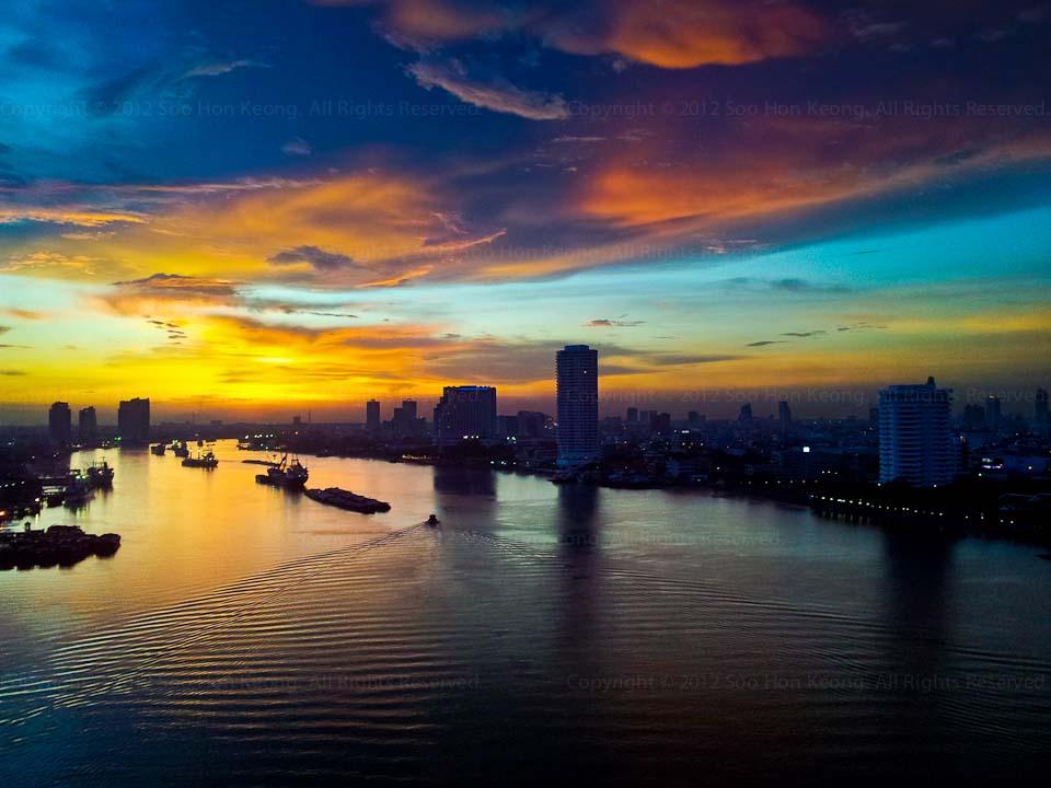 Sunset @ Bangkok, Thailand