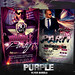 PSD Purple Flyer Bundle - 2in1