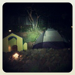 backyard campout site