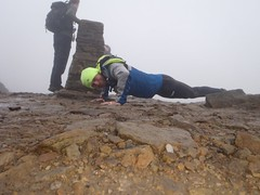 Tom with the 1st set of press-ups on Pen-y-Ghent Image