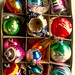 1940s - 1950s Vintage Christmas Ornaments SHINY BRITE BOX