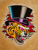 TIGER TOPHAT Paintings by Myke