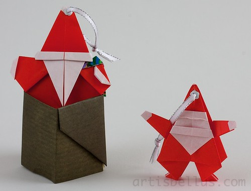 Paper Ornament 24 Photos | Two Cute Santas | 535