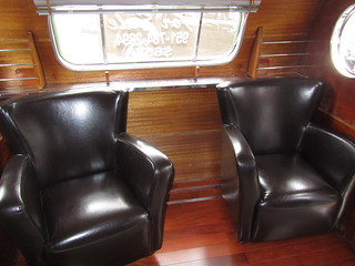 Airfloat Land Yacht Trailer Interior  - 1950