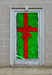 Christmas Door on unsold property