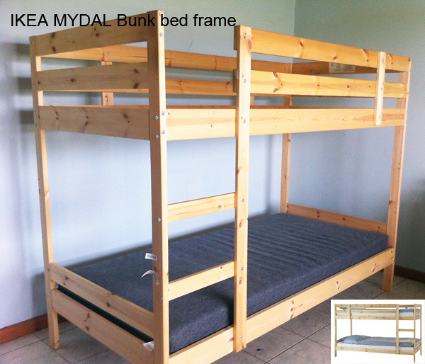 Ikea mydal bunk bed frame second hand bunk bed frame for Second hand bunk beds