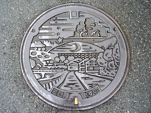 Mikazuki Hyogo manhole cover(兵庫県三日月町のマンホール)