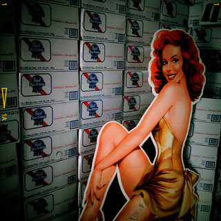 old mill pin up and pabst