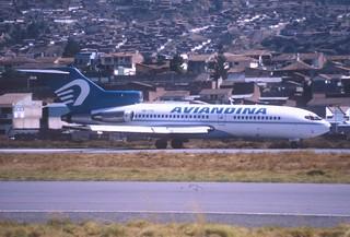 110ba - AVIANDINA Boeing 727-23; OB-1731@CUZ;29.09.2000
