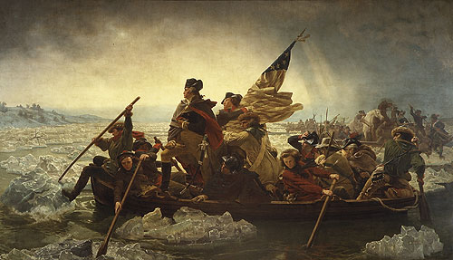 George Washington Crossing the Delaware by Emanuel Gottlieb Leutze
