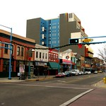 Central Avenue, Albuquerque, New Mexico, as seen from KiMo Theatre