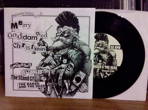 """With 1 day to spare, it's the Merry Goddamn Christmas 7"""" w/ The Stand GT. Thanks @chrispager !"""