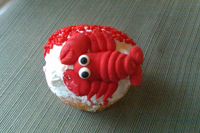 lobster with a cup cake