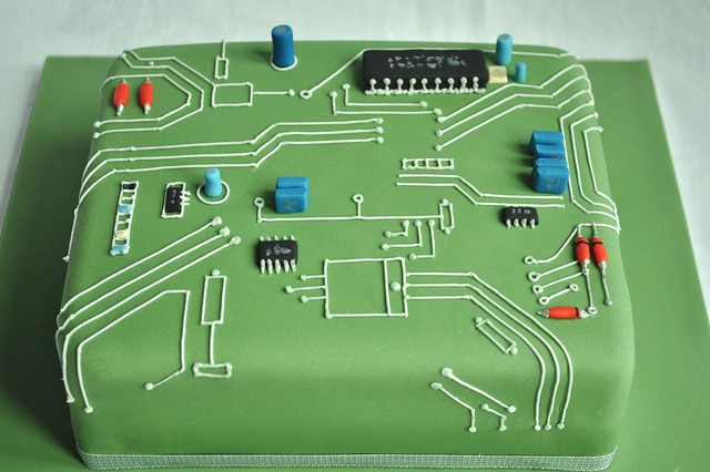 Galleries Circuit Board Birthday Cake Flickr Photo Sharing
