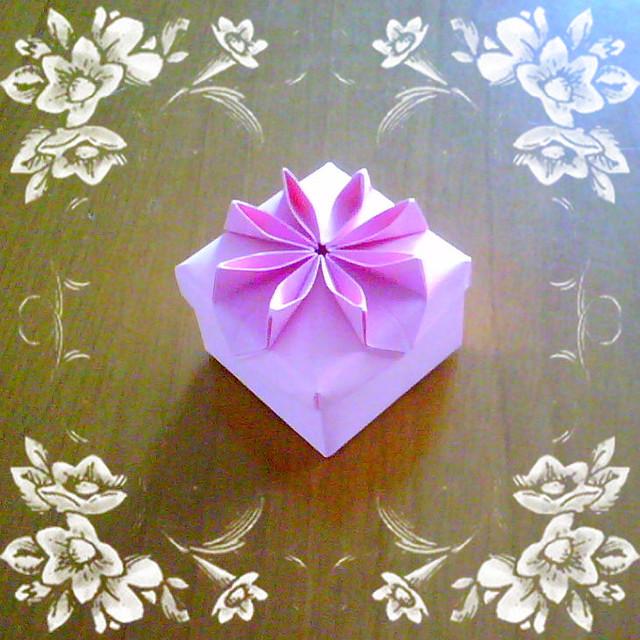 origami flower box new version 2 flickr photo sharing