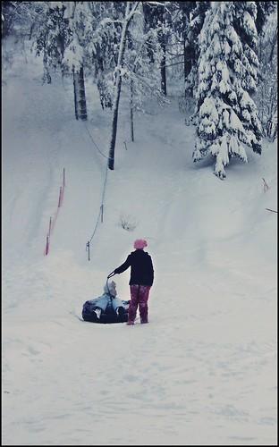 pink winter mountain snow hat children