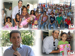 Diputado Emmanuel Bautista  entrega juguetes a niños de escasos recursos en el día reyes.