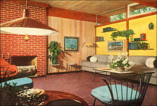 1953 Modern Living Room by American Vintage Home