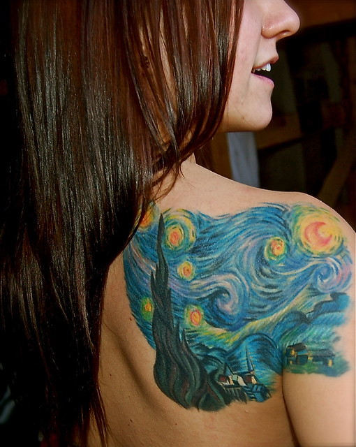 starry night tattoo flickr photo sharing