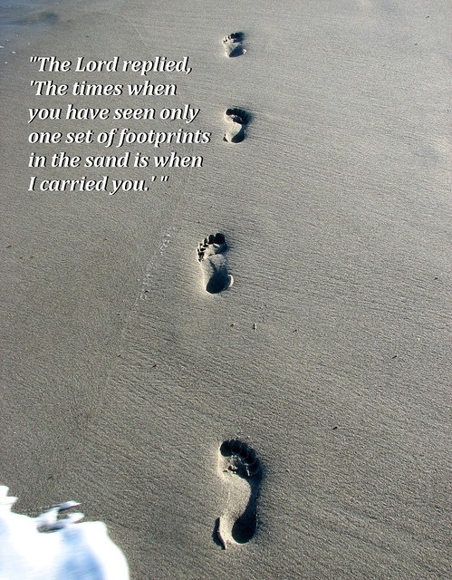 Footprints in the sand flickr photo sharing